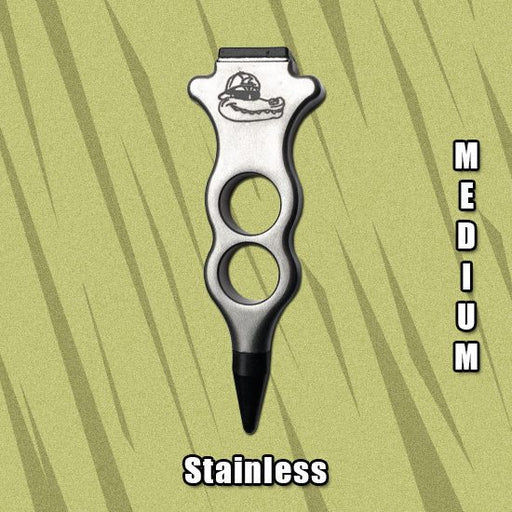 Edgy Medium Stainless Steel Control Punch Ergonomic Precision Knockdown (ET-405)
