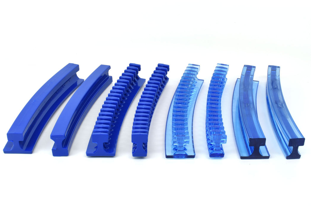 Centipede Curved 12.5 mm Blue Flexible Smooth Glue Tab