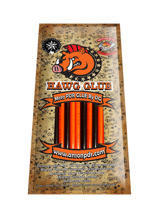Hawg PDR Orange and Black Combo PDR Glue Sticks (10 Sticks)