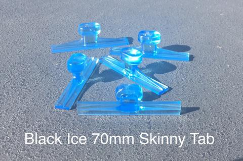 "Black Ice 70mm / 2.8"" Smooth Winged Skinny Glue Tab (5 Pack) (IST70MM)"
