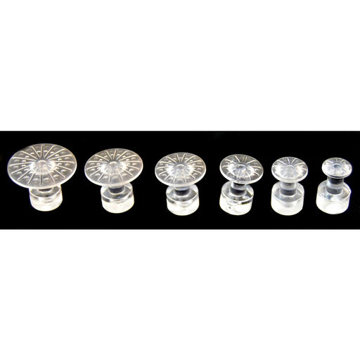 Plain Jane Round Glue Tabs - Variety Pack Clear (6 Pieces)