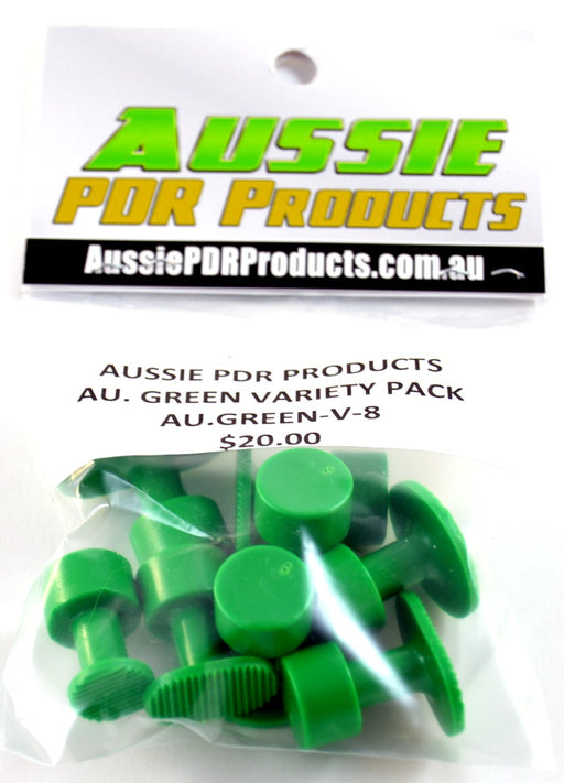 Aussie Green Groved Glue Tabs - Variety Pack (8 Pieces)