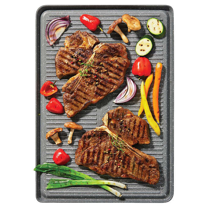 The Rock Plus Reversible Grill/Griddle - سینی دو‌طرفه مخصوص گریل