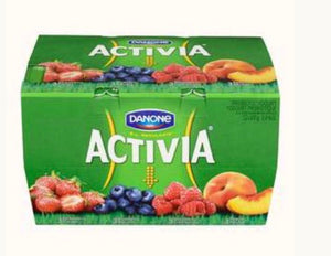 DANONE ACTIVIA YOGURT, RASPBERRY / STRAWBERRY / BLUEBERRY / PEACH