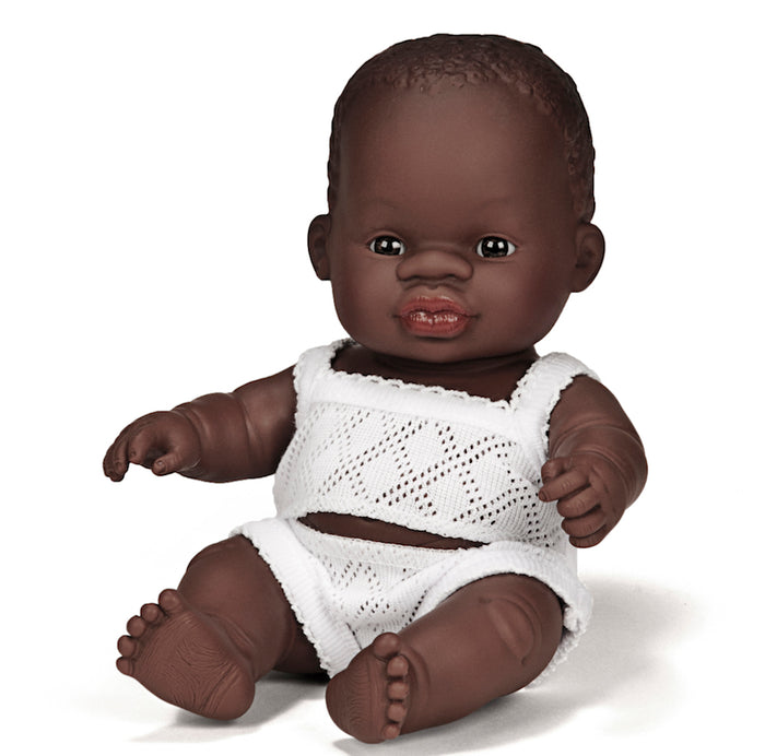 Miniland Baby Doll - African Boy 21cm - Pretty Snippets Kids Toys & Accessories