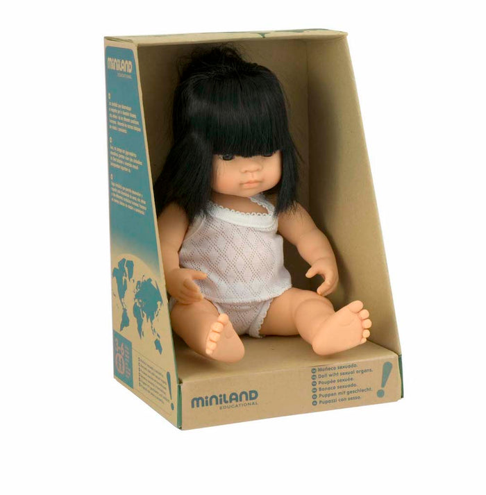 Miniland Doll - Asian Girl 38cm - Pretty Snippets Kids Toys & Accessories