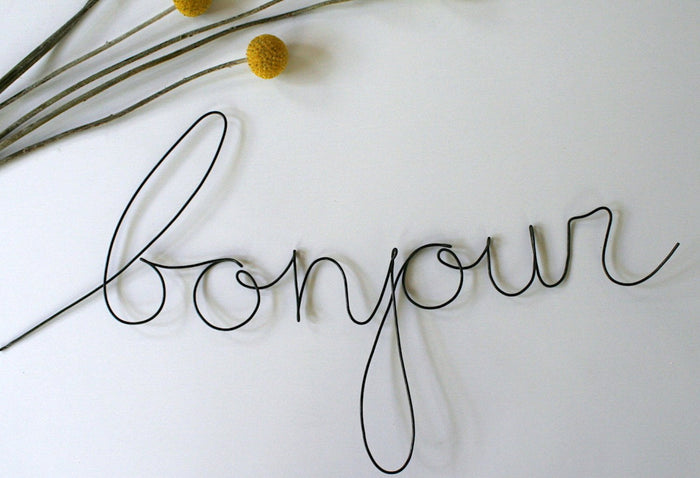 'Bonjour' Wire Word - Pretty Snippets Kids Toys & Accessories