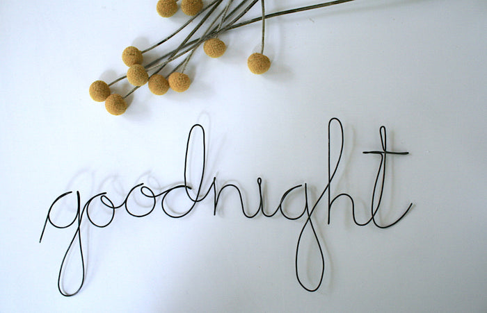 'Goodnight' Wire Word - Pretty Snippets Kids Toys & Accessories