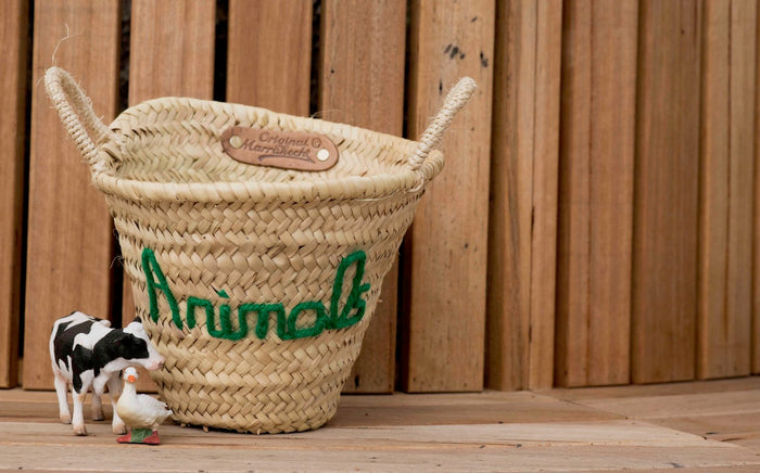 'Animals' Mini Basket - Pretty Snippets Kids Toys & Accessories