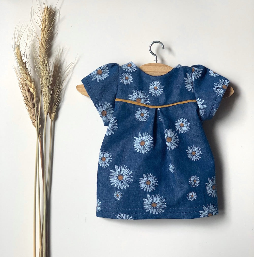 Daisy Short Sleeve Dress (to fit 38cm) - Pretty Snippets Kids Toys & Accessories
