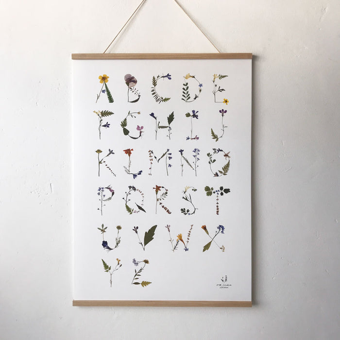 Pressed Flower Alphabet Poster - Pretty Snippets Kids Toys & Accessories