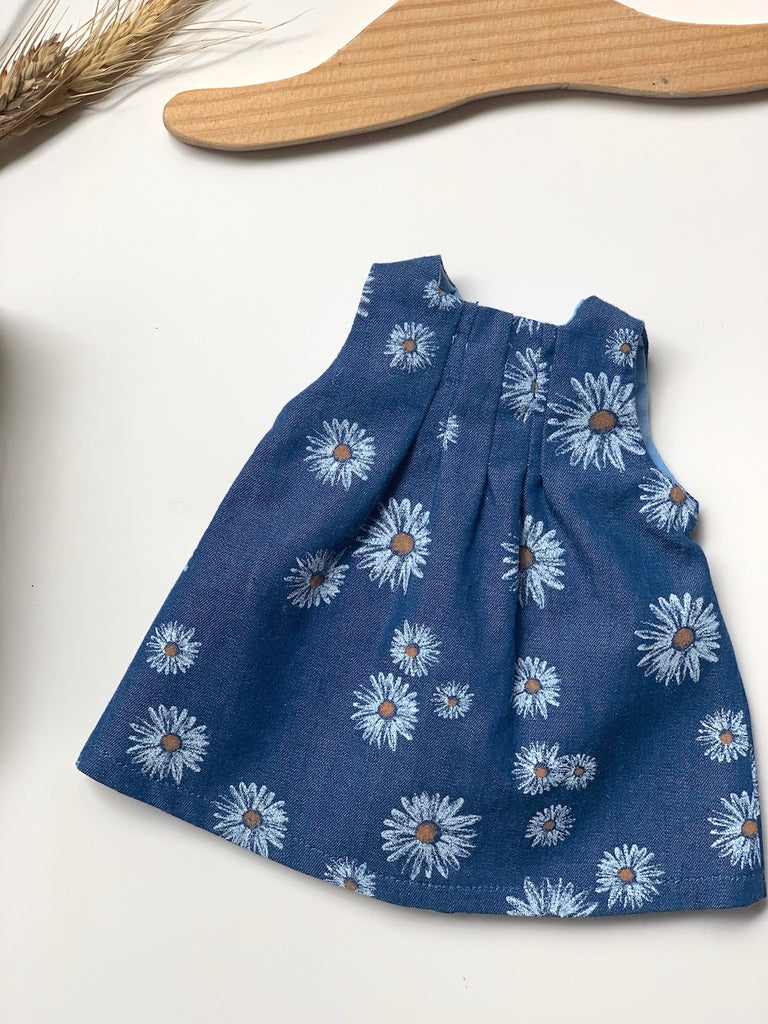Daisy Pleat Dress (to fit 38cm) - Pretty Snippets Kids Toys & Accessories
