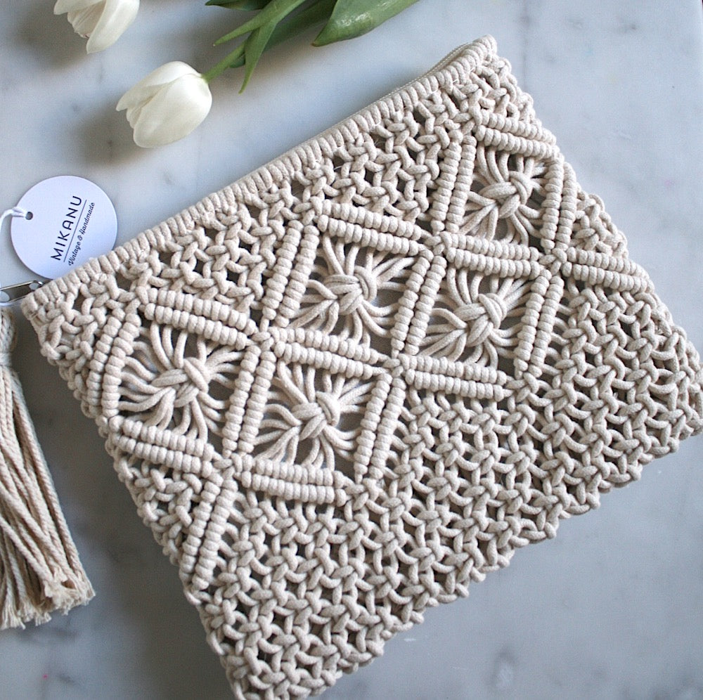 Hand Crochet Clutch (Ivory) - Pretty Snippets Kids Toys & Accessories
