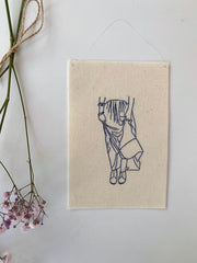'The Skirt In The Wind' - Embroidery - Pretty Snippets Kids Toys & Accessories