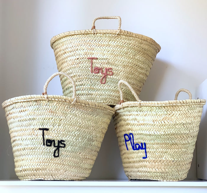 Personalised MEDIUM Basket - Next Order Deadline: 1st October '19 - Pretty Snippets Kids Toys & Accessories