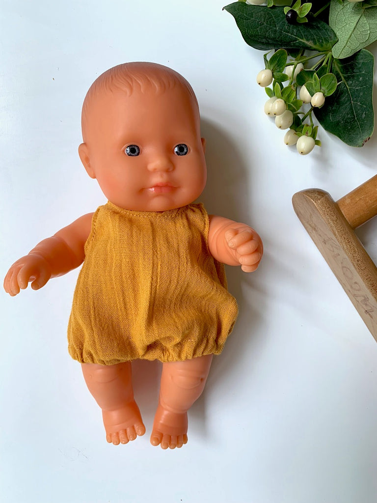Miniland Baby Doll - Caucasian Girl 21cm - Pretty Snippets Kids Toys & Accessories