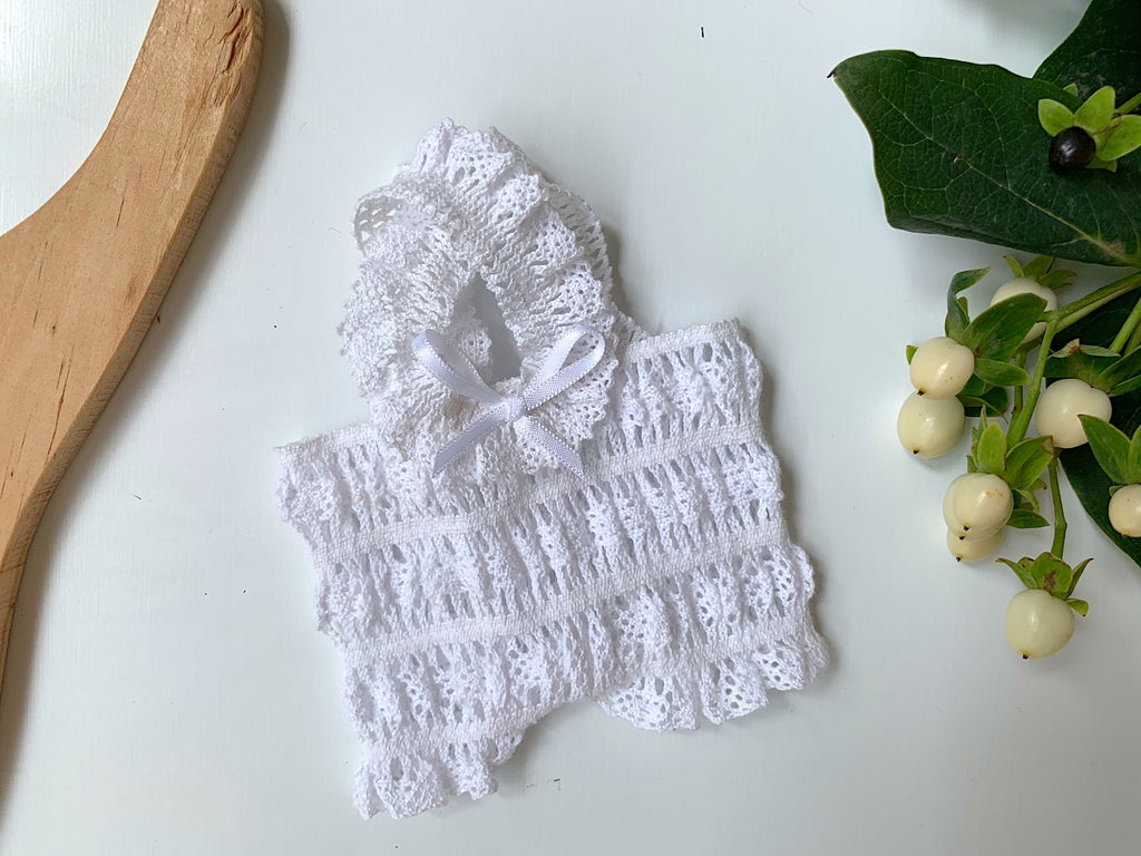 Stretch Lace Romper - (to fit 21cm) - Pretty Snippets Kids Toys & Accessories