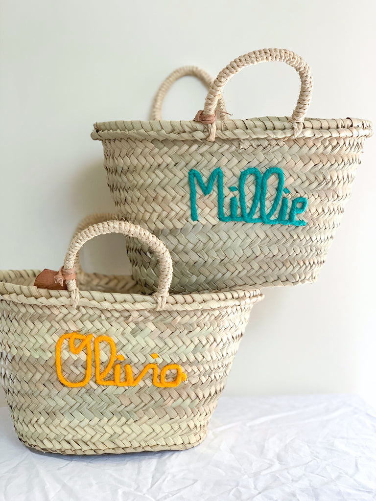 Personalised SMALL Basket - Next Order Deadline 1st June 2020 - Pretty Snippets Kids Toys & Accessories