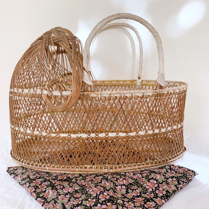 Wicker Doll's Bassinet - Vintage - Pretty Snippets Kids Toys & Accessories