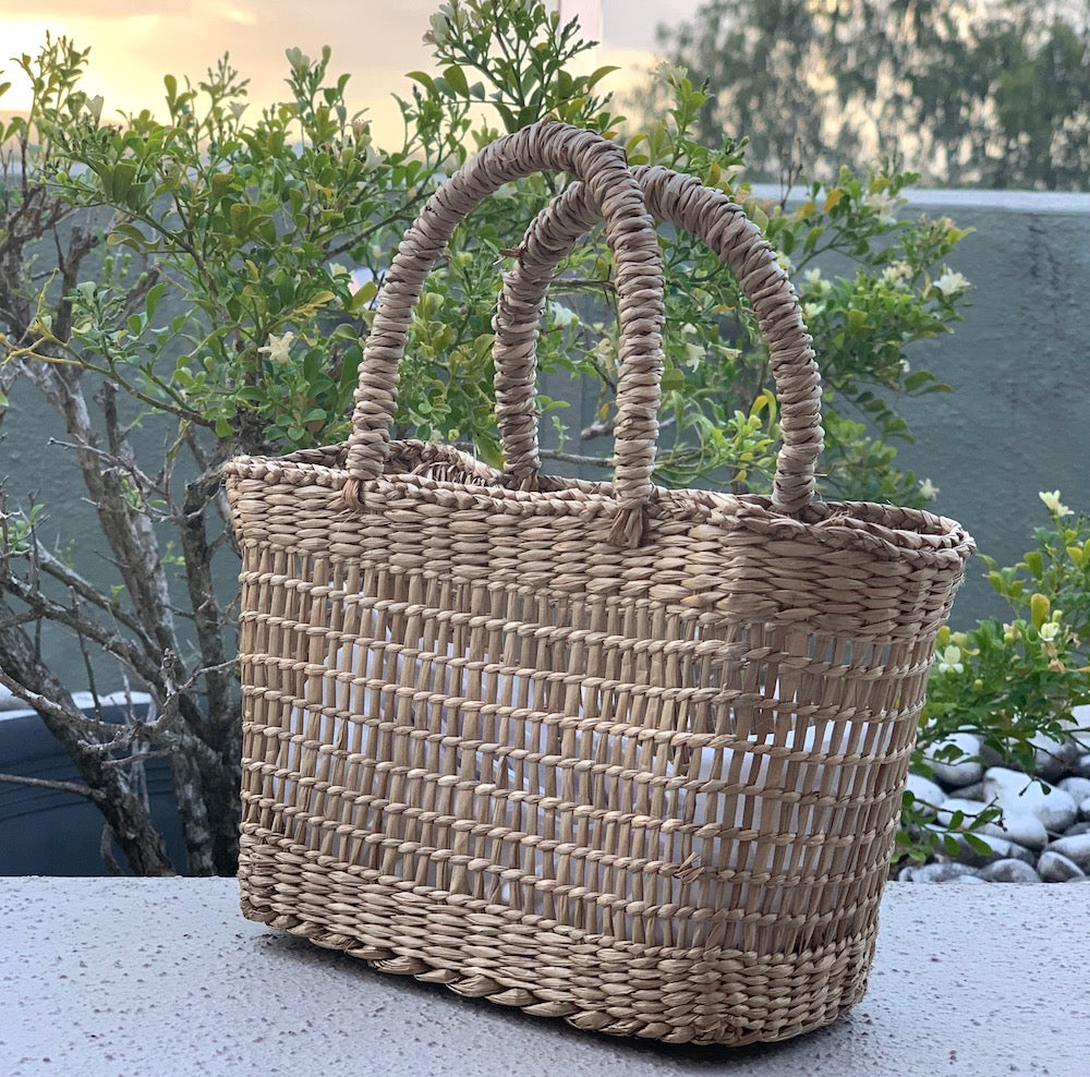 'Emily' Mini Seagrass Basket - Pretty Snippets Kids Toys & Accessories