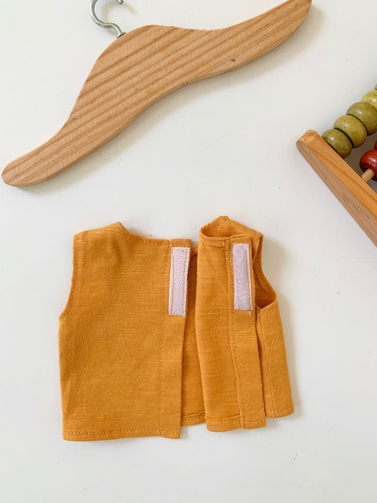 Singlet - Mint or Mustard (to fit 38cm) - Pretty Snippets Kids Toys & Accessories