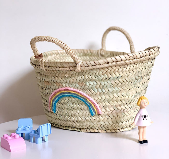 Rainbow (Pastel) Small Basket - Pretty Snippets Kids Toys & Accessories