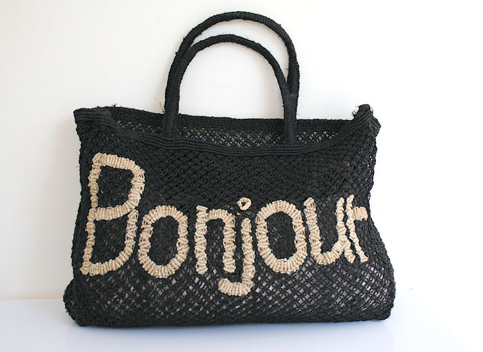Bonjour - Black & Natural (Small) - Pretty Snippets Kids Toys & Accessories