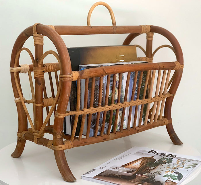 Heart Magazine Rack - Vintage