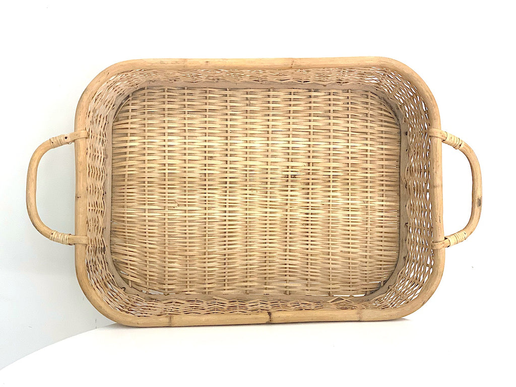 Wicker Rectangular Tray - Vintage - Pretty Snippets Kids Toys & Accessories