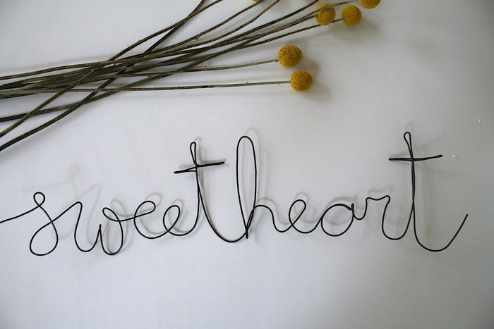 'Sweetheart' Wire Word - Pretty Snippets Kids Toys & Accessories