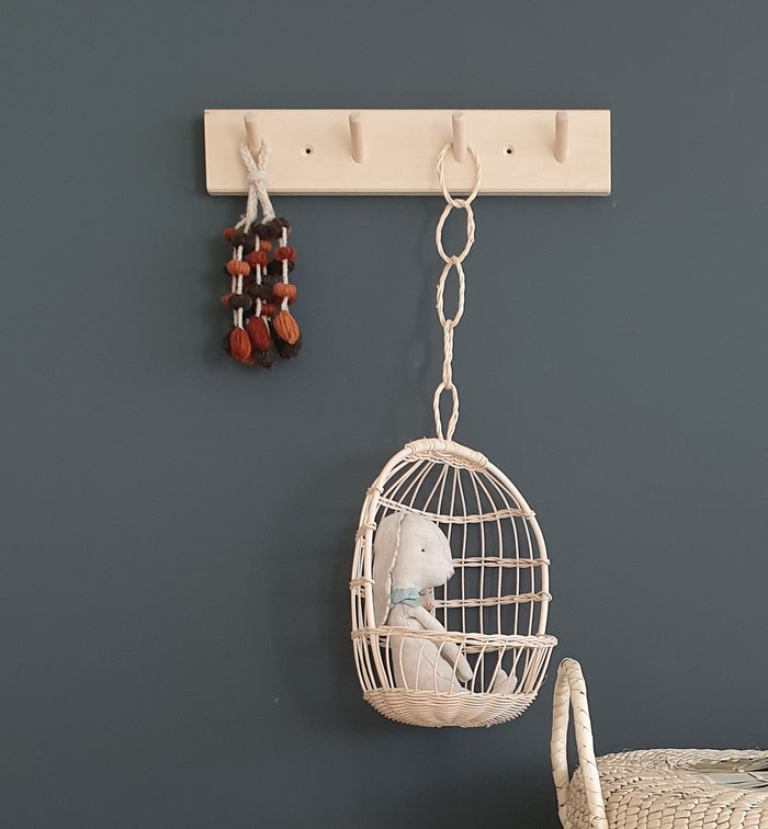 Hanging Doll's Chair (Small) - Rattan