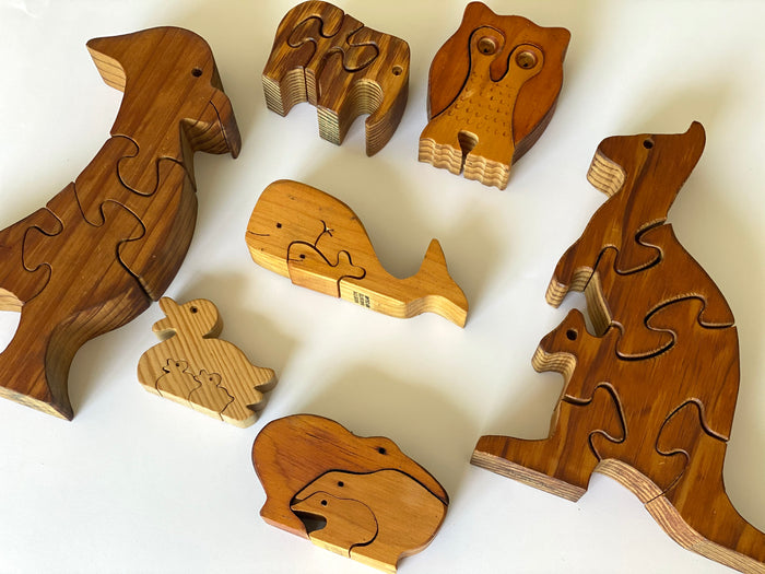 Handmade Wooden Puzzles - Vintage