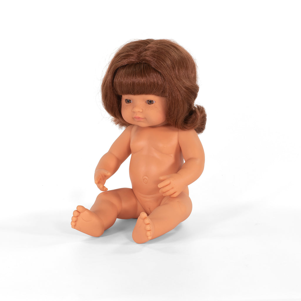 Miniland Doll - Caucasian, Red Head Girl 38cm (undressed)