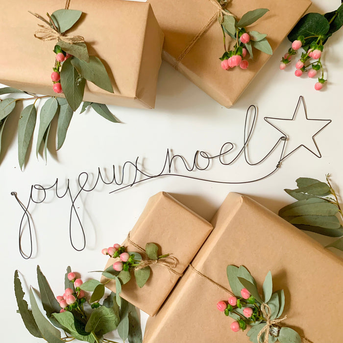 'Joyeux Noel' - Wire Word - Pretty Snippets Kids Toys & Accessories