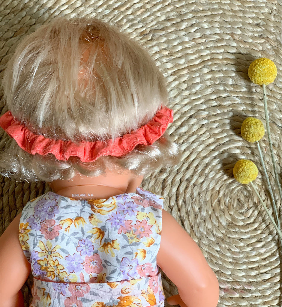 Golden Floral Visor (to fit 38cm) - Pretty Snippets Kids Toys & Accessories