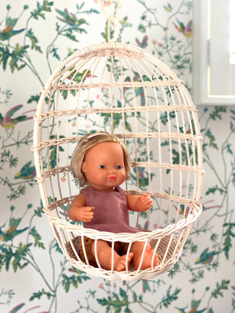 Hanging Doll's Chair (Large) - Rattan