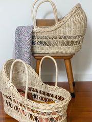 Clementine Dolls Moses Basket - Natural