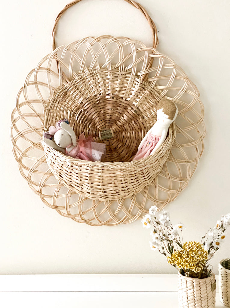 Wall Basket - Rattan