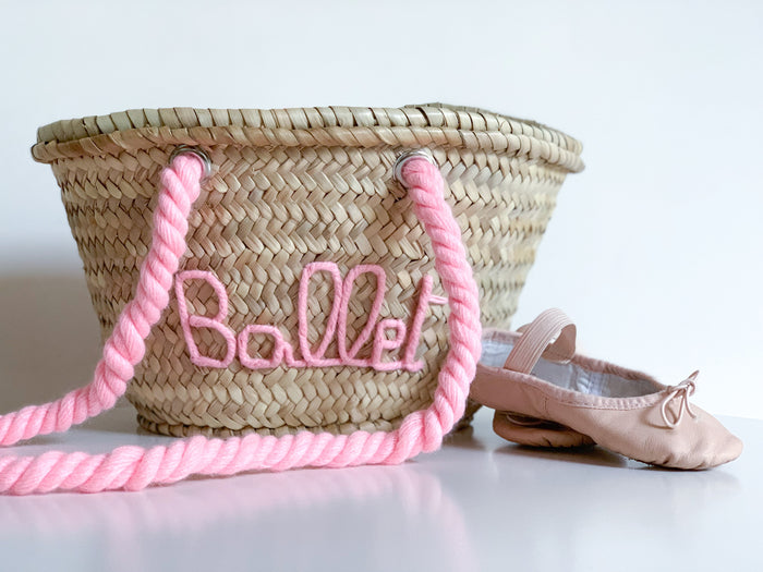 Ballet Basket - Pale Rose - Pretty Snippets Kids Toys & Accessories