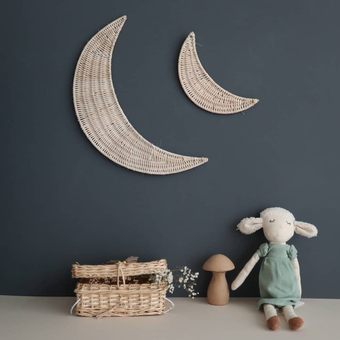 Moon (Small or Large) - Rattan