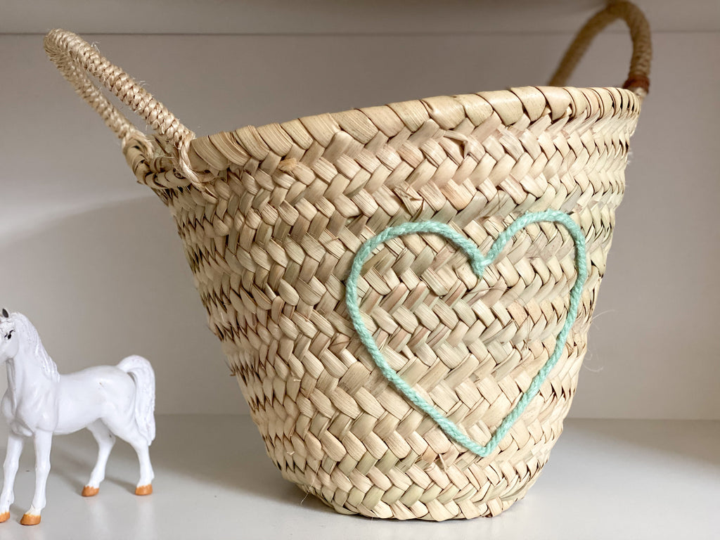 Heart Mini Basket - Various Colours