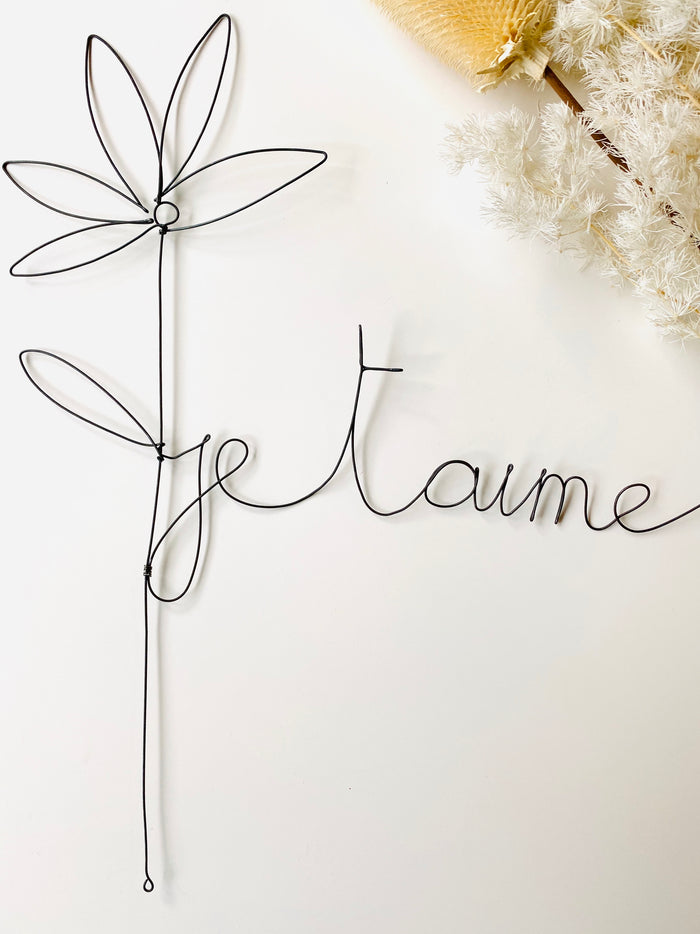 'Je t'aime' Wire Art