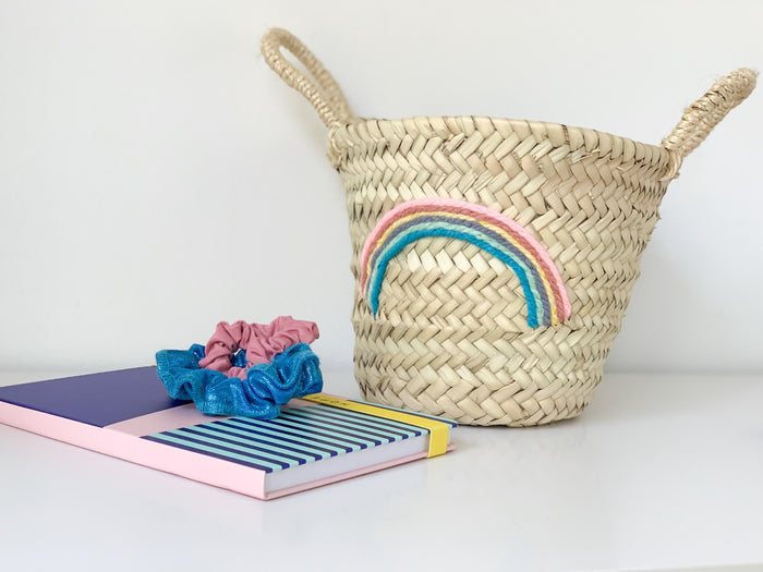 Rainbow (Pastel) Mini Basket - Pretty Snippets Kids Toys & Accessories