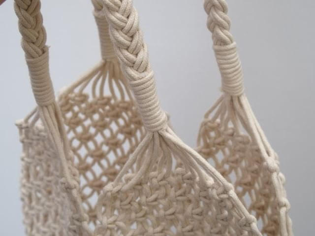 Hand Crochet Shopper (Ivory) - Pretty Snippets Kids Toys & Accessories