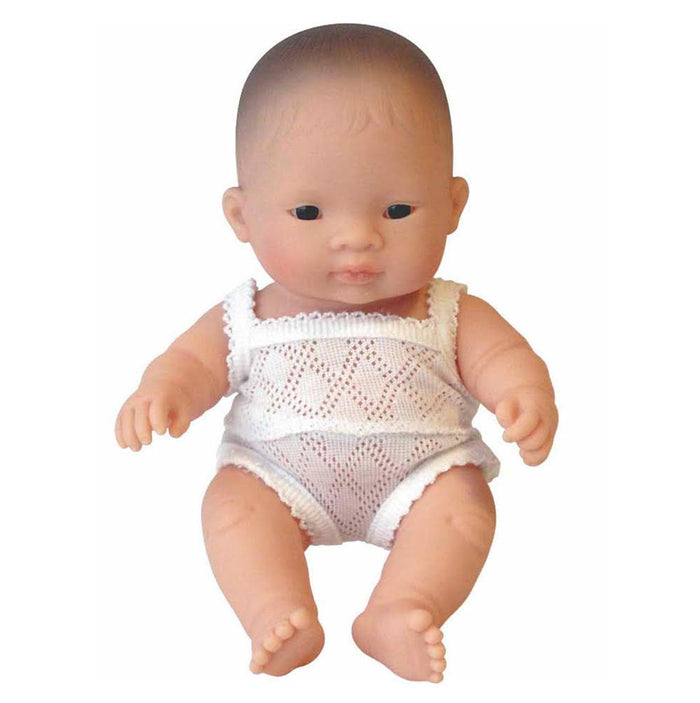Miniland Baby Doll - Asian Girl 21cm - Pretty Snippets Kids Toys & Accessories