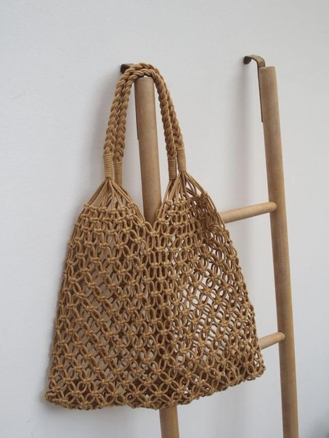 Hand Crochet Shopper (Coffee) - Pretty Snippets Kids Toys & Accessories