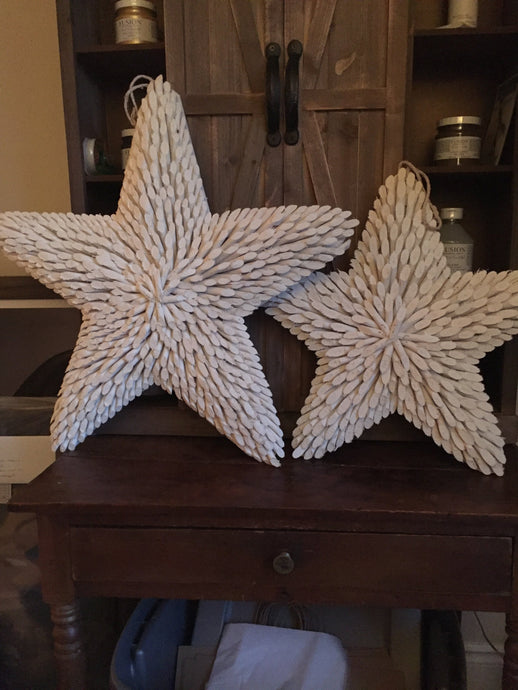 Large and Medium wooden stars