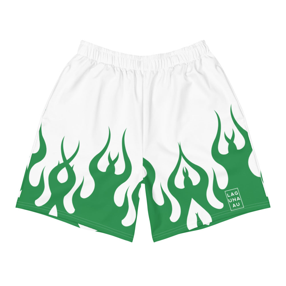 Green Flames Shorts