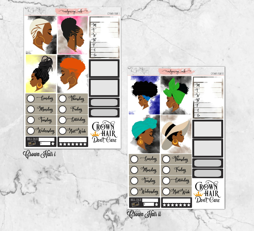 Crown Hair Daily Sheet