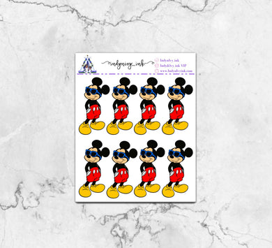 Too Cool for You Mickey Sticker Sheet